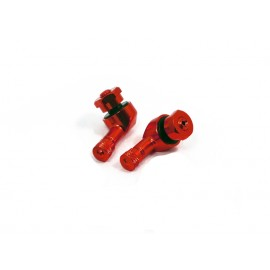 VALVES Ø 8.3 mm COUDEES ALUMINIUM ROUGE