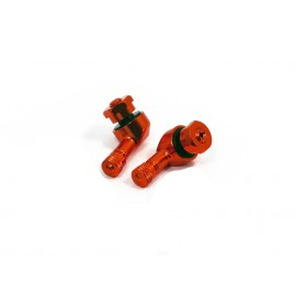 VALVES MOTO DIAM-8.3 mm COUDEES ALUMINIUM ORANGE