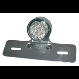 FEU SIMPLE AR ROND LED + SUPPORT DE PLAQUE