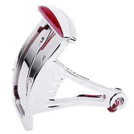 SUPPORT DE PLAQUE HARLEY DAVIDSON LATÉRAL VERTICAL INCURVE CHROME