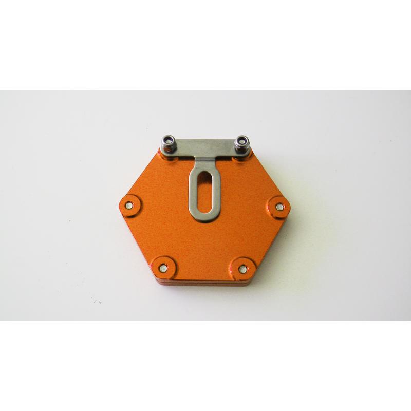 support vignette assurance moto plat hexagonale orange en livraison gratuite en france. Black Bedroom Furniture Sets. Home Design Ideas