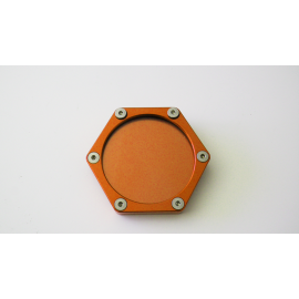 SUPPORT VIGNETTE ASSURANCE PLAT HEXAGONALE ORANGE