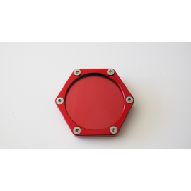 SUPPORT VIGNETTE ASSURANCE PLAT HEXAGONALE ROUGE