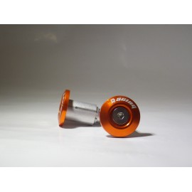 EMBOUTS DE GUIDON MOTO MX ORANGE