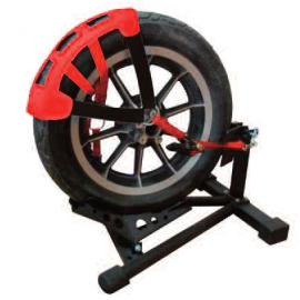 sangle boque fixe  roue moto sur remorque