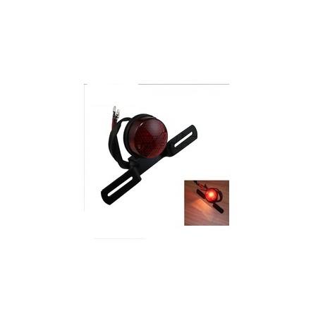 feu moto arriere simple ampoule rond noir support de plaque en livraison gratuite en france. Black Bedroom Furniture Sets. Home Design Ideas
