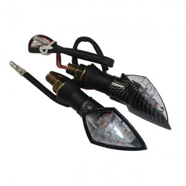CLIGNOTANT MOTO DIAMOND LED CARBONE