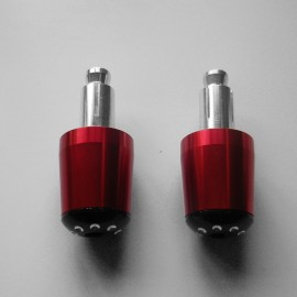 EMBOUTS DE GUIDON MOTO STANDARD HBE ROUGE