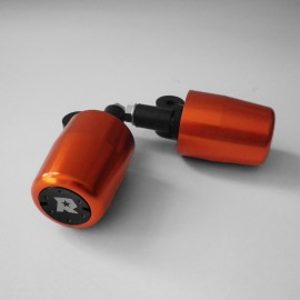 EMBOUTS DE GUIDON MOTO RACING ORANGE NOIR