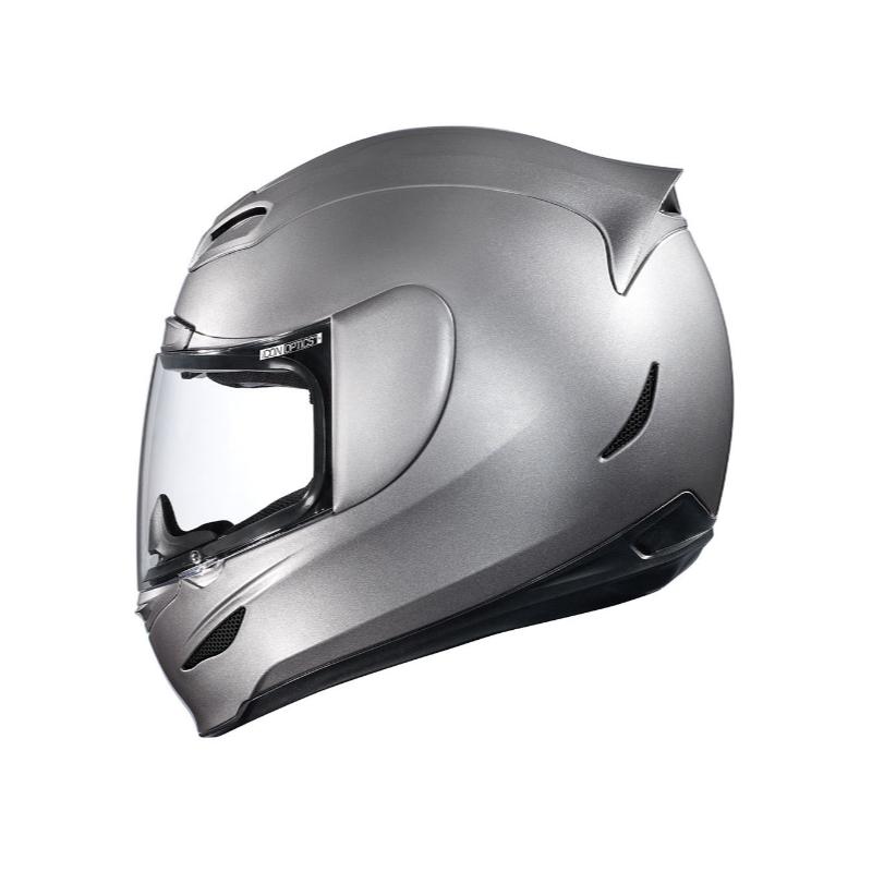 Casque Integral Moto Icon Airmada Medallion Silver Brillant En