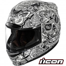 CASQUE ICON AIRMADA RUBATONE WHITE GLOSS