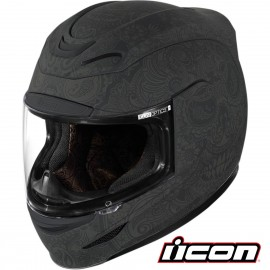 CASQUE ICON AIRMADA CHANTILLY BLACK RUBATONE