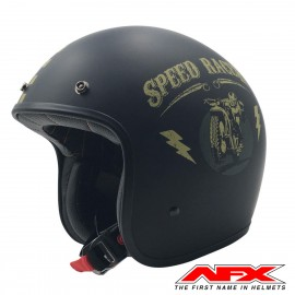 CASQUE MOTO AFX JET VINTAGE 3/4 SPEED RACER MAGNETIC SILVER BRILLANT