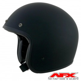 CASQUE MOTO AFX JET VINTAGE 3/4 SOLID COLOR BLACK MAT