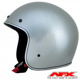 CASQUE MOTO AFX JET VINTAGE 3/4 SOLID COLOR GREY BRILLANT