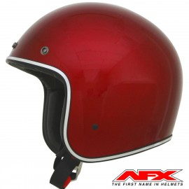 CASQUE MOTO AFX JET VINTAGE 3/4 METAL FLAKE CANDY APPLE