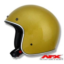 CASQUE MOTO AFX JET VINTAGE 3/4 METAL FLAKE GOLD