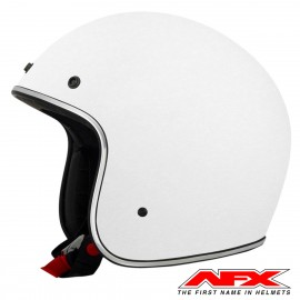 CASQUE MOTO AFX JET VINTAGE 3/4 SOLID COLOR WHITE