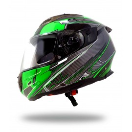 CASQUE INTEGRAL MOTO ULTRALIGHT SPORT UP VERT