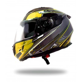 CASQUE INTEGRAL MOTO ULTRALIGHT SPORT UP JAUNE