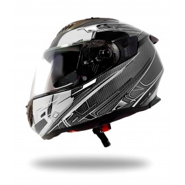 CASQUE INTEGRAL MOTO ULTRALIGHT SPORT UP NOIR