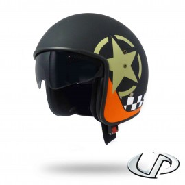 CASQUE JET MOTO UP SMART FIBRE STAR BLACK MAT