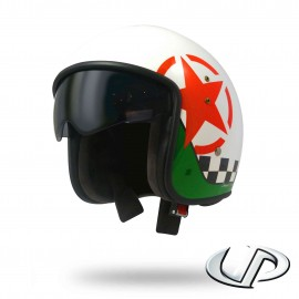 CASQUE JET MOTO UP SMART FIBRE STAR WHITE SHINY