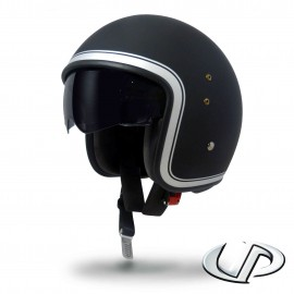 CASQUE JET MOTO UP SMART FIBRE BORDER BLACK MAT