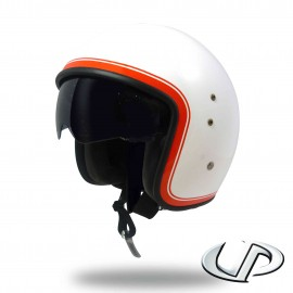 CASQUE JET MOTO UP SMART FIBRE BORDER WHITE SHINY