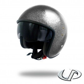 CASQUE JET MOTO UP SMART FIBRE GLITTER BLACK