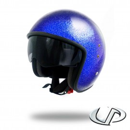 CASQUE JET MOTO UP SMART FIBRE GLITTER BLUE
