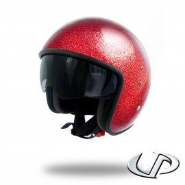 CASQUE JET MOTO UP SMART FIBRE GLITTER RED