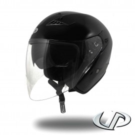 CASQUE JET MOTO UP SUBURBAN BLACK MAT