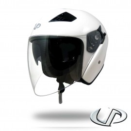 CASQUE JET MOTO UP SUBURBAN WHITE SHINY