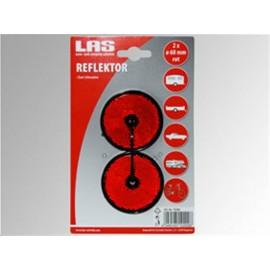 Réflecteurs rouges ronds 6 cm