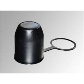 Cache boule PVC noir avec bague