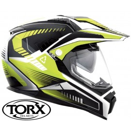 CASQUE MOTO CROSS ENDURO DUNDEE V YELLOW FLUO