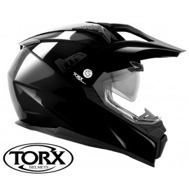 CASQUE MOTO CROSS ENDURO DUNDEE BLACK SHINY
