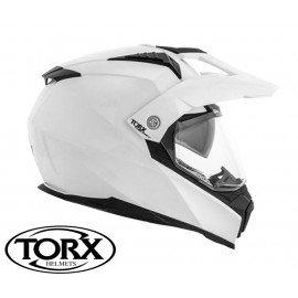 CASQUE MOTO CROSS ENDURO DUNDEE WHITE SHINY