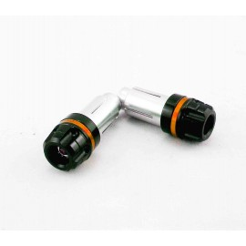 EMBOUTS DE GUIDON MOTO SMALL NOIR / ORANGE