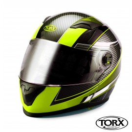 CASQUE INTEGRAL MOTO CLINT JAUNE FLUO