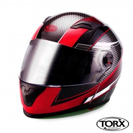 CASQUE INTEGRAL MOTO CLINT ROUGE