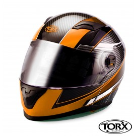 CASQUE INTEGRAL MOTO CLINT ORANGE