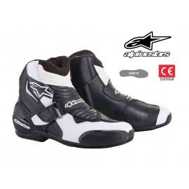 BOTTES MOTO ALPINESTARS SMX-1 R v2 NOIR/BLANC HOMOLOGUE CE