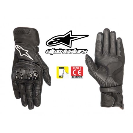 gants cuir moto ete alpinestars sp 2 v2 noir homologue ce en livraison gratuite en france. Black Bedroom Furniture Sets. Home Design Ideas