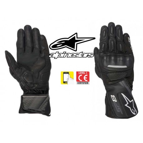 gants moto ete alpinestars sp 8 v2 noir homologue ce en livraison gratuite en france. Black Bedroom Furniture Sets. Home Design Ideas
