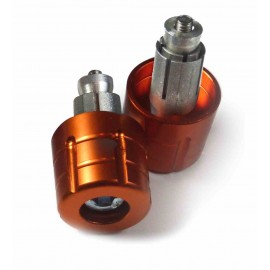 EMBOUTS DE GUIDON MOTO GRENADE ORANGE