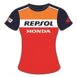 T-SHIRT FEMME MOTOGP 2018 TEAM REPSOL HONDA HRC