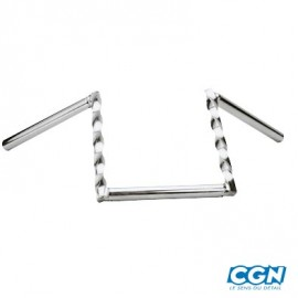GUIDON CYCLO MOBYLETTE Z.BARRE TORSADE H20 CHROME