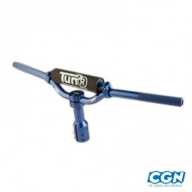 GUIDON TUN'R SCOOTER CROSS BOOSTER ALU BLEU AVEC POTENCE